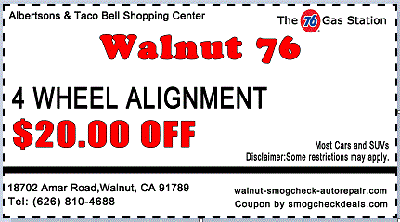 $20 OFF Auto Wheel alignment coupon